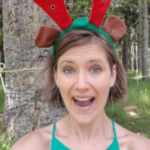 Sheree with antlers